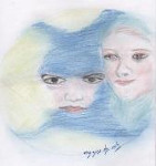 illustration, Maxime, Chattam, Requiem des abysses, pastel sec